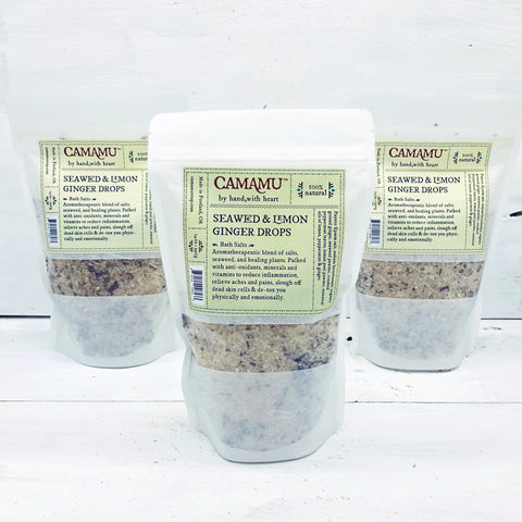 Seaweed & Lemon Drops Bath Salts: Detox & Anti-inflammatory