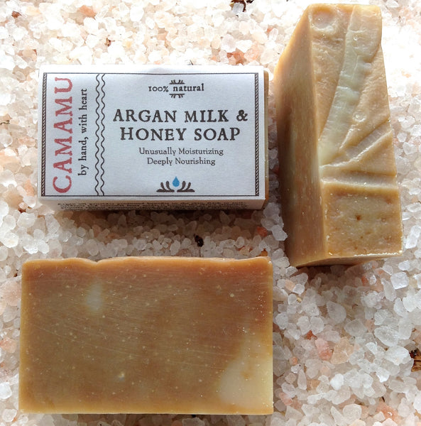 Camamu Soap's all natural handmade moisturizing soap made with argan oil, goat's milk and local honey