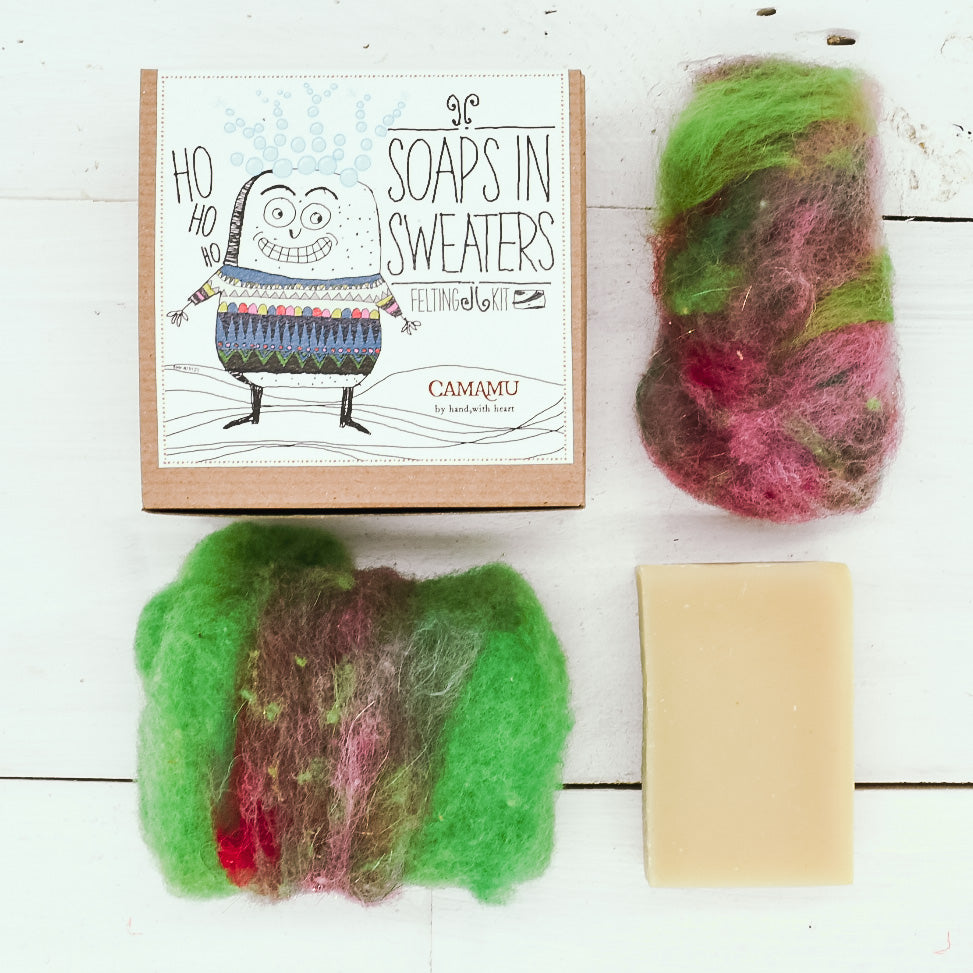 Soaps in Sweaters: DIY Felting Soap Kit.    NEW