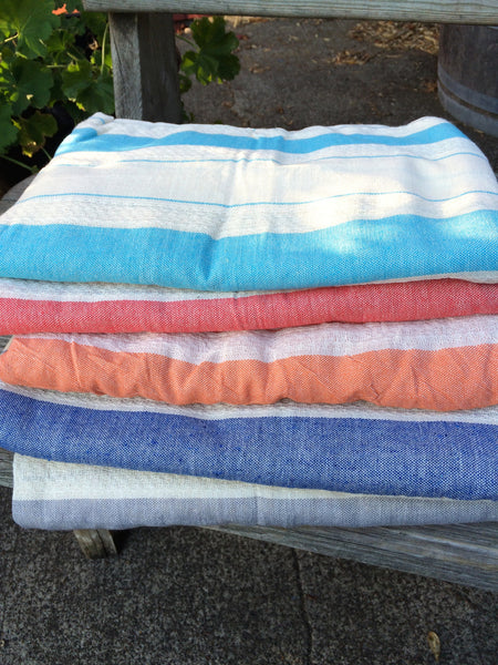 Traditional Pestemal Turkish Towel - Feather