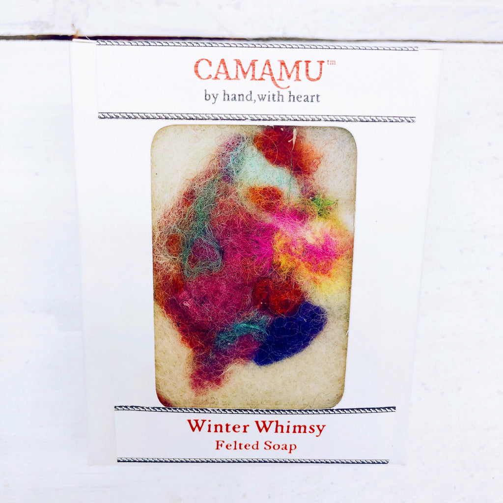 Hand-Felted Camamu  Soap