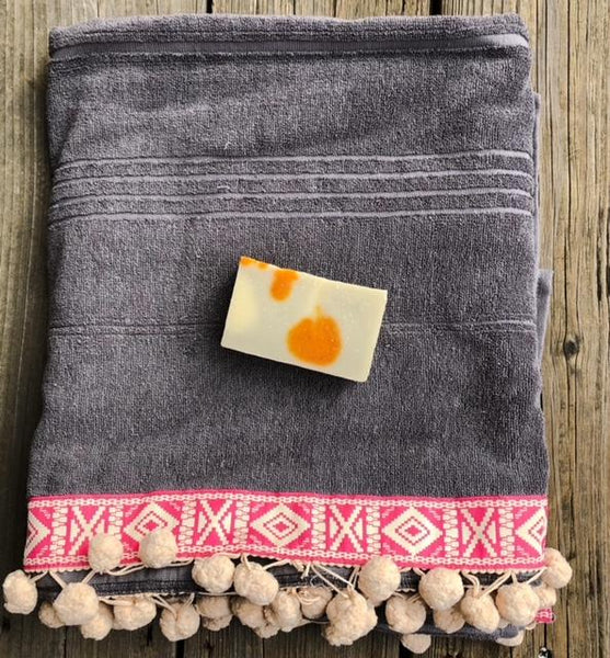 Turkish Towel with Border & Trim