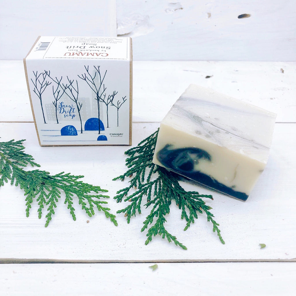 Snow Drift Holiday Soap: Hand illustrated limited edition
