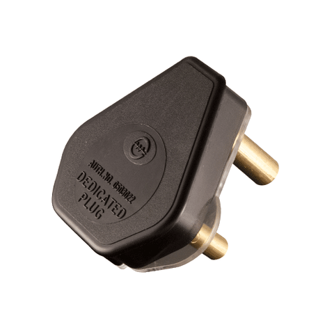 Crabtree Dedicated Plug Top 3 Pin 16A Black 1054BKP