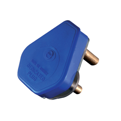 Crabtree Dedicated Plug Top 3 Pin 16A Blue 1054BLUP