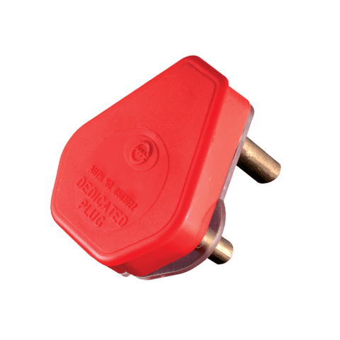 Crabtree Dedicated Plug Top 3 Pin 16A Red 1054RDP