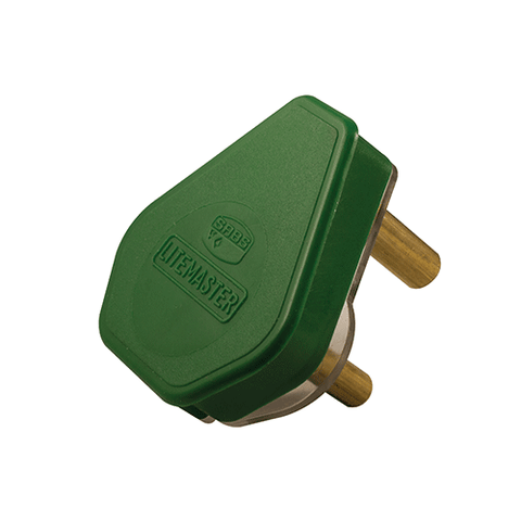 Crabtree Plug Top 3 Pin 16A Green 1055P