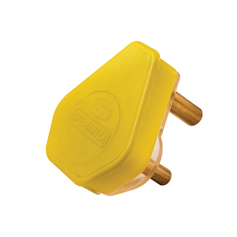 Crabtree Plug Top 3 Pin 16A Yellow 1056P