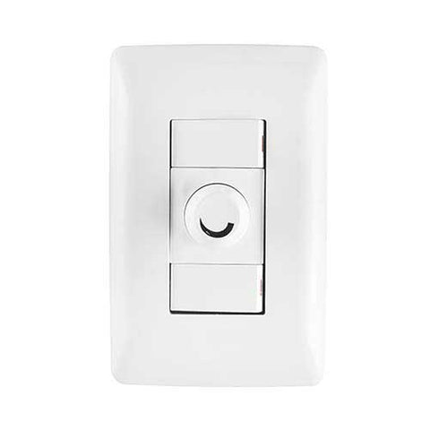 Diamond Rotary Dimmer with Internal Switch & 2 Lever 1 Way Switch