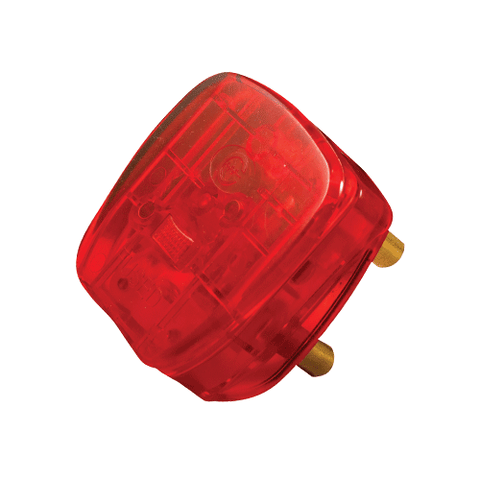 Crabtree Dedicated Plug Top 3 Pin 16A Red Fused 1083RD