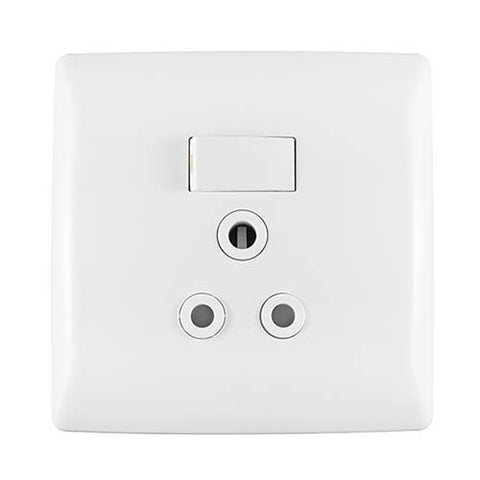 Crabtree Diamond Monoblock Single Socket with Horizontal Switch 12151/601