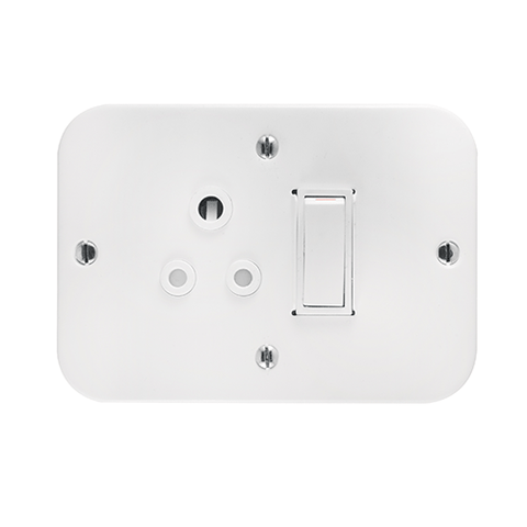 Crabtree - Industrial Single 6A Weatherproof Socket in Surface Box - 1445W