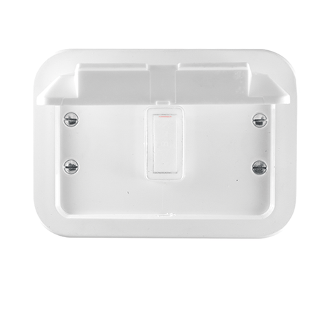 Crabtree - 1 Lever 1 Way Switch in Surface Box - Plastic - 1466W