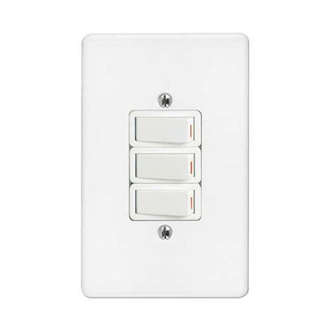 Crabtree - Classic 3 Lever 1 Way Switch - 2473+6543/101