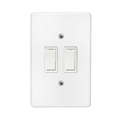 Crabtree - Classic 2 Lever 1 x 1 Way + 1 x 2 Way Switch - 2572P+6542/101