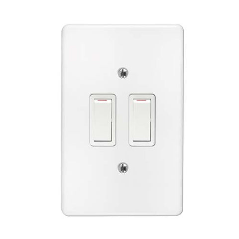Crabtree - Classic 2 Lever 2 x 2 Way Switch - 2573P+6542/101