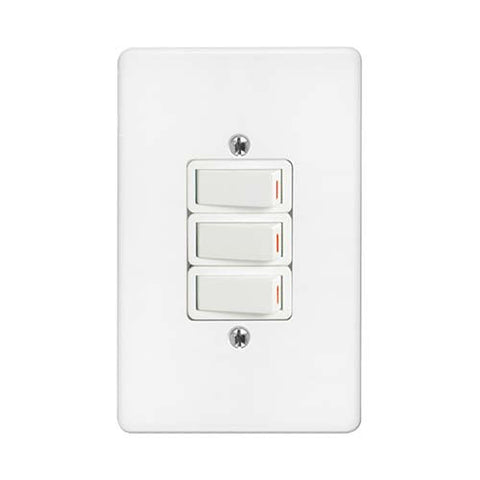 Crabtree - Classic 3 Lever 2 x 1 Way 1 x 2 Way Switch - 2574P+6543/101