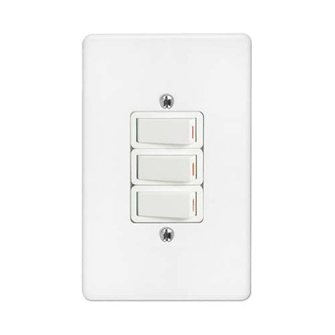 Crabtree - Classic 3 Lever 1 x 1 Way 2 x 2 Way Switch - 2575P+6543/101