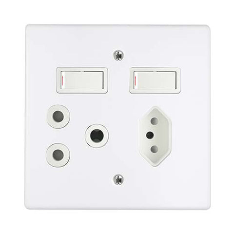 Crabtree - Classic Combo Slimline Switched Socket - 6859P+6529/101