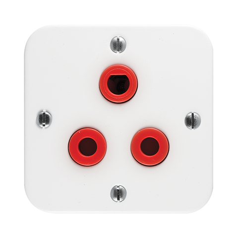Crabtree - Single 16A Red Dedicated Socket in Surface Box - 7379/D