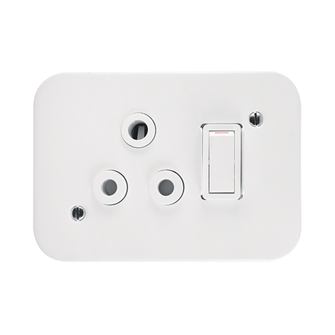 Crabtree - Single 16A Switched Socket in Surface Box - 7390P