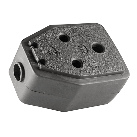 Crabtree Rubber Janus Coupler Black C1395