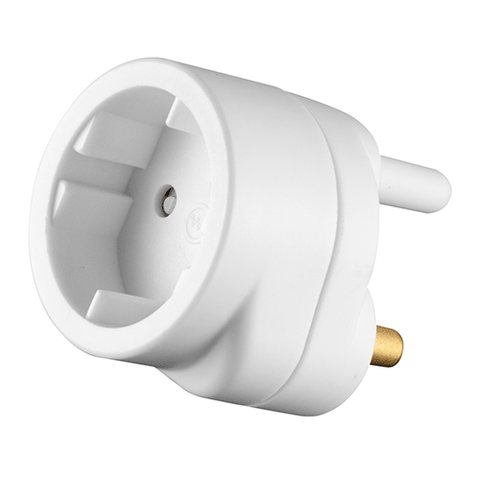 Crabtree Plug in Adaptor 1 x Schuko C2011P