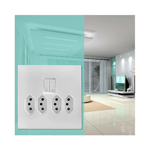 Crabtree - Topaz 4 x 16A Slimline Switched Monoblock Socket - 15224/601