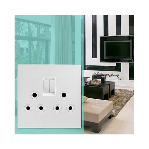 Crabtree - Topaz Duo Switched Monblock Socket - 15222/601