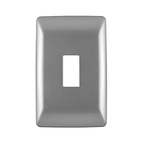 Diamond 1 Lever Cover Plate 4 x 2 - Silver Grey
