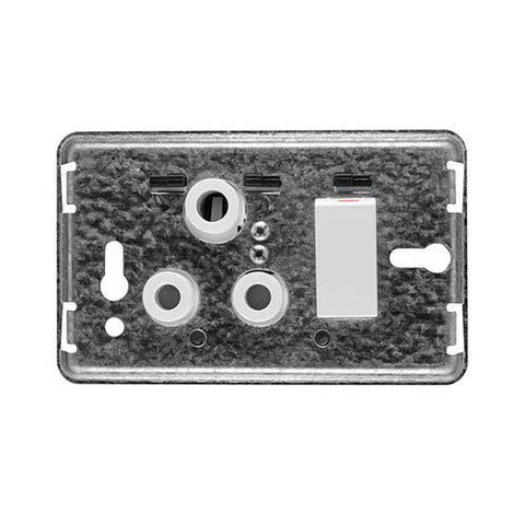 Diamond 16A Single Horizontal Socket Grid Plate 4 x 2