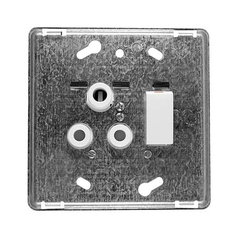 Diamond 16A Single Horizontal Socket Grid Plate 4 x 4
