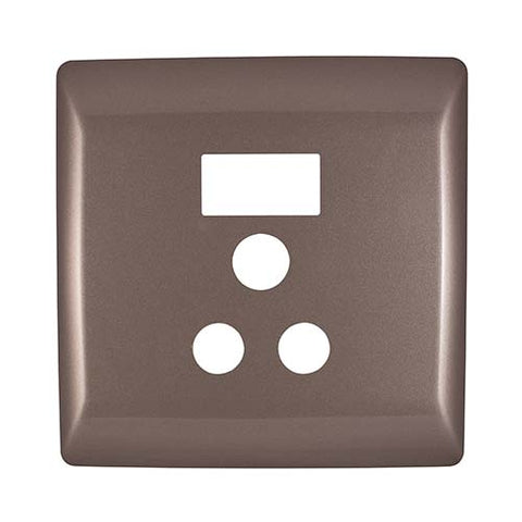 Diamond 16A Single Socket Cover Plate 4 x 4 - Champagne