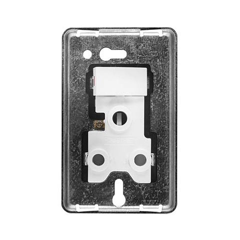 Diamond 16A Single Vertical Socket Grid Plate 4 x 2
