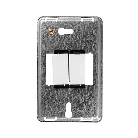 Diamond 2 Lever 1 Way Switch Grid Plate 4 x 2