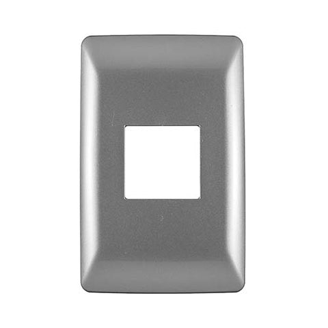 Diamond 2 Lever Cover Plate 4 x 2 - Silver Grey
