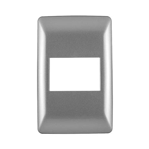 Diamond 3 Lever Cover Plate 4 x 2 - Silver Grey