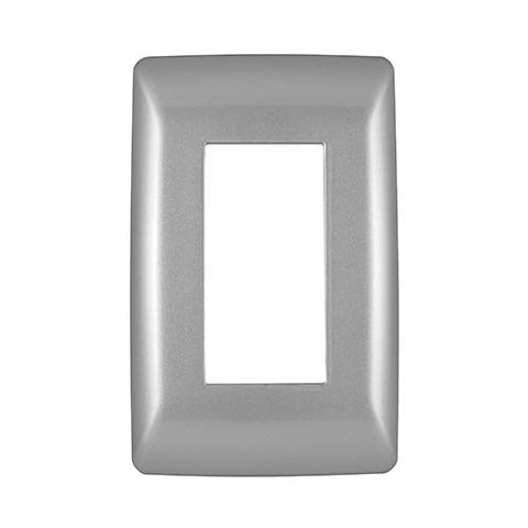 Diamond 4 Lever Cover Plate 4 x 2 - Silver Grey