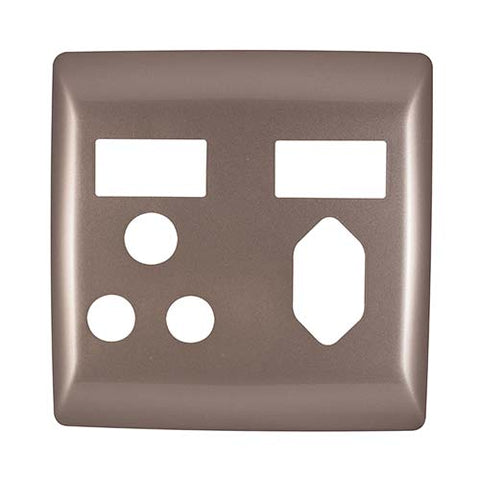 Diamond Combo Socket Cover Plate 4 x 4 - Champagne