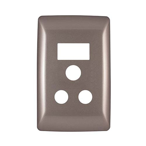 Diamond 16A Single Socket Vertical Cover Plate - Champagne