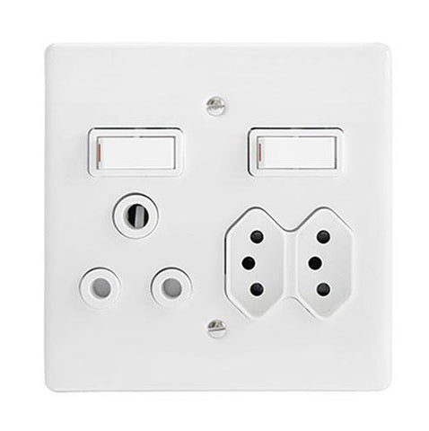 Classic Combo Slimline Switched 3 x Socket