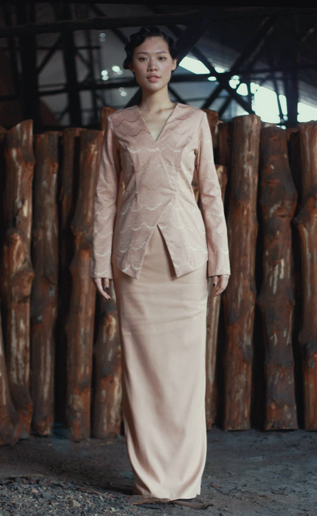 RAHAH Kebaya Top in Rose Gold
