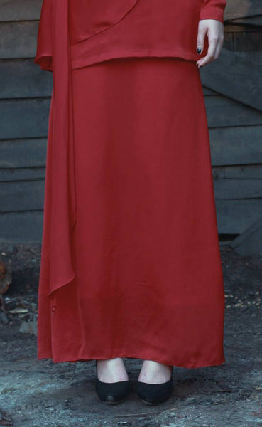 TEJA Mermaid Skirt in Red
