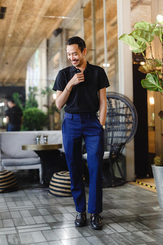 T Travel • Travel Pants in Navy