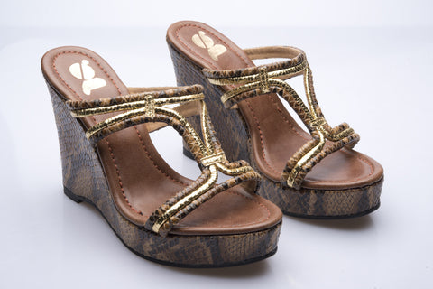 Brown Python Look Wedges