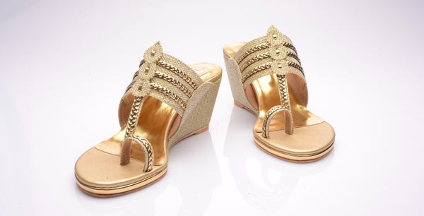 Leather & Canvas Handmade Wedge Sandal