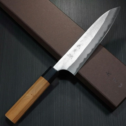 KATO AOGAMI Super Clad Stainless Steel Nashiji Finish Chef Knife 180mm