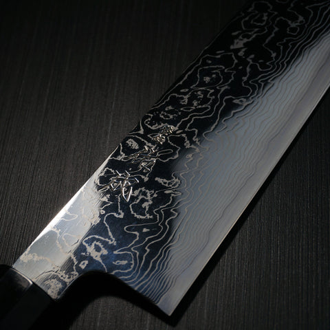 SUKENARI Damascus Super Gold 2 Wa Gyuto Knife 210mm Water Buffalo