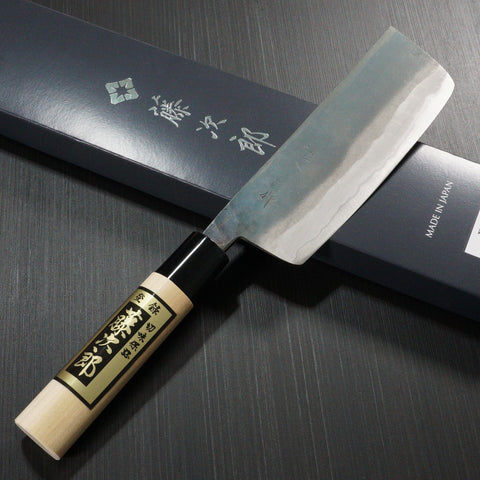 Tojiro Black Finished YASUKI SIROGAMI White Steel Nakiri Knife F-700