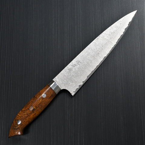 Saji Takeshi SG2 Super Gold 2 Damascus Matte Finish Gyuto Chef's Knife 210mm Ironwood